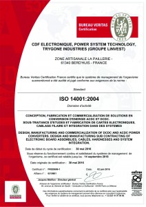 Certificat ISO 14001 - 6310801 - GROUPE LINVEST