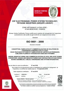 Certificat ISO 9001 - GROUPE LINVEST