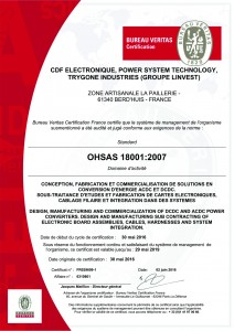 Certificat OHSAS 18001 - 6310801 - GROUPE LINVEST
